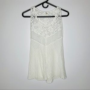 Intimately Free People White Lace Tank Top